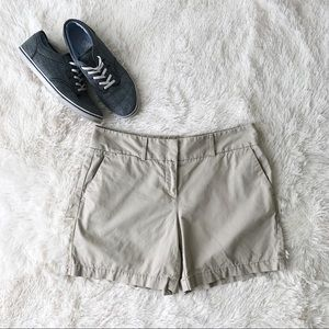 Loft tan chino shorts